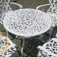 میز باغی آلومینیوم قطر مدل مدالیوم