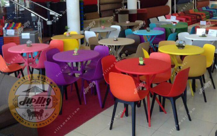 میز دایره مدل تیکا