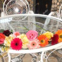میز باغی فلزی قطر ۱۲۰ سانتی متر