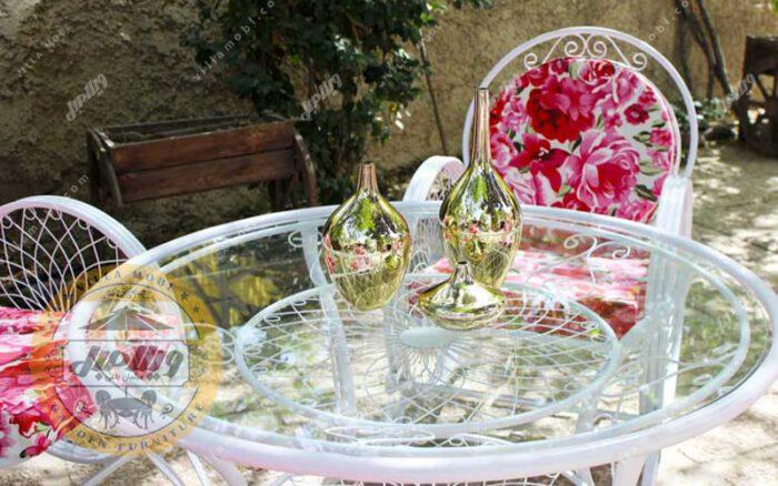 میز باغی فلزی قطر ۱۰۰ سانتی متر
