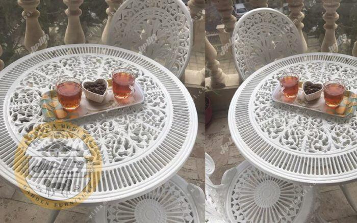 میز باغی آلومینیوم قطر ۷۲ سانتی متر