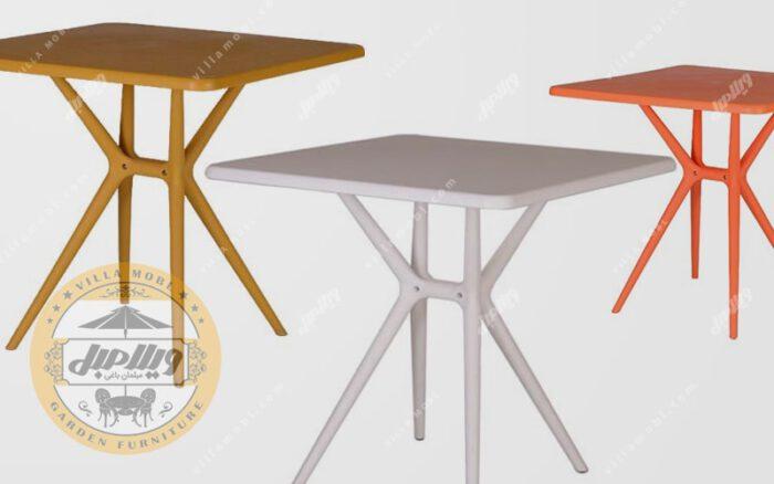 میز مربع مدل تیکا