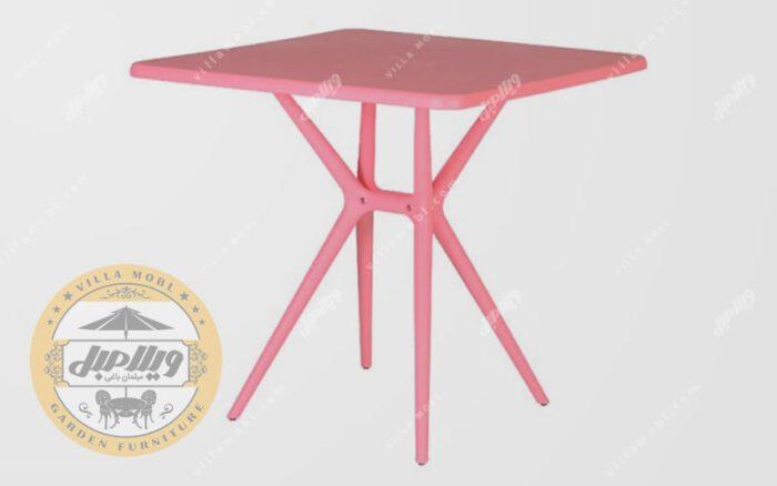 میز مربع تیکا صورتی