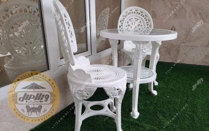 قیمت صندلی و میز پلاستیکی پلیمری طاووسی