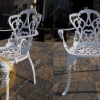 صندلی باغی آلومینیومی مدالیوم