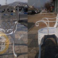 صندلی باغی آلومینیومی مدل تاج