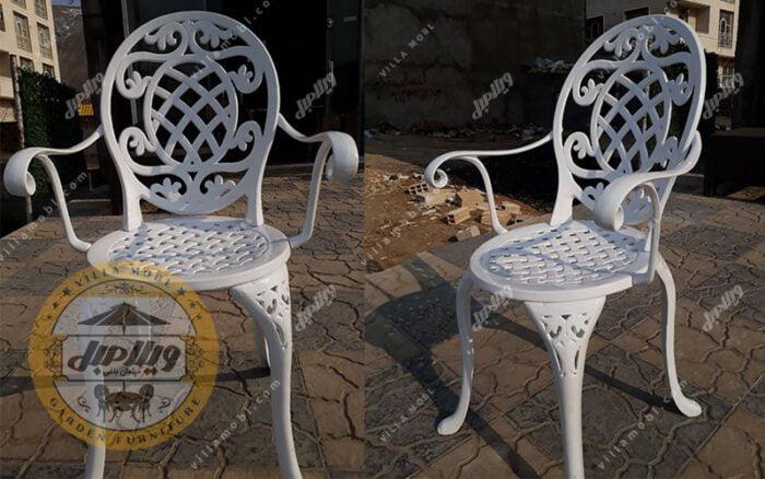 صندلی باغی آلومینیومی تاج