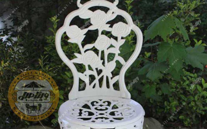 صندلی باغی آلومینیومی مدل رز