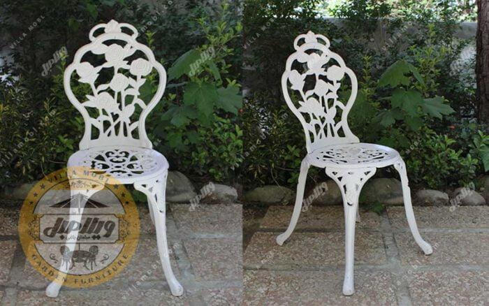 صندلی باغی آلومینیومی رز