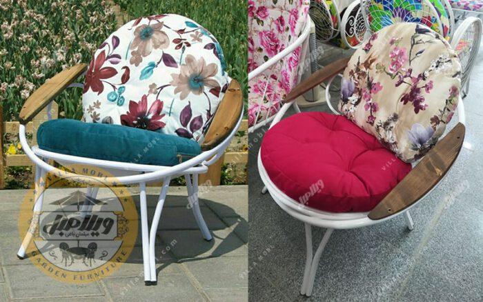 صندلی باغی فلزی مدل ارغوان