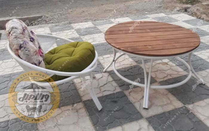 صندلی باغی فلزی ارغوان