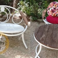 صندلی باغی دسته چوبی ارغوان
