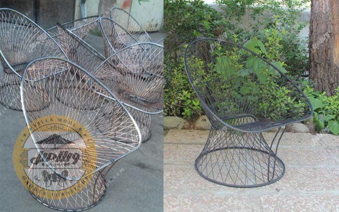 قیمت صندلی باغی فلزی مدل بامبو