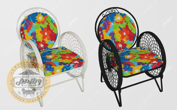 صندلی باغی فلزی مدل گلبرگ