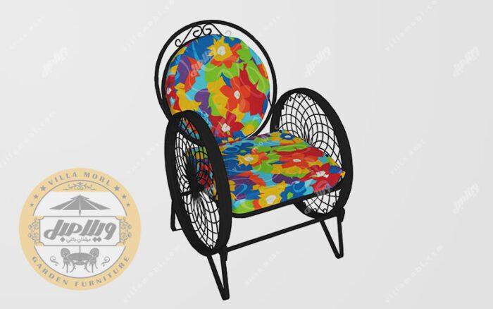 تشک صندلی باغی فلزی مدل گلبرگ
