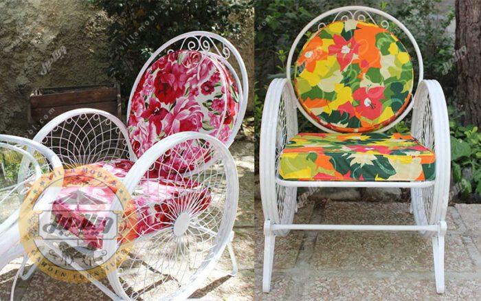 صندلی جنس فلزی مدل گلبرگ