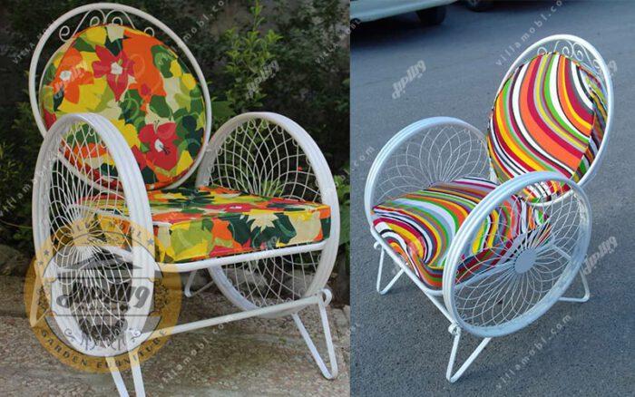رنگبندی صندلی باغی فلزی مدل گلبرگ