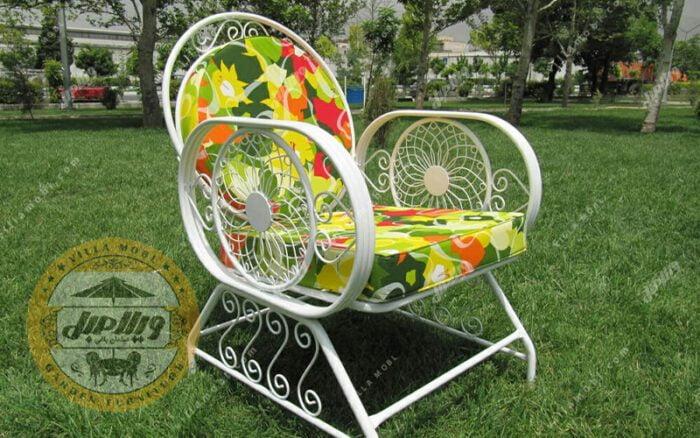 صندلی باغی فلزی مدل خورشیدی
