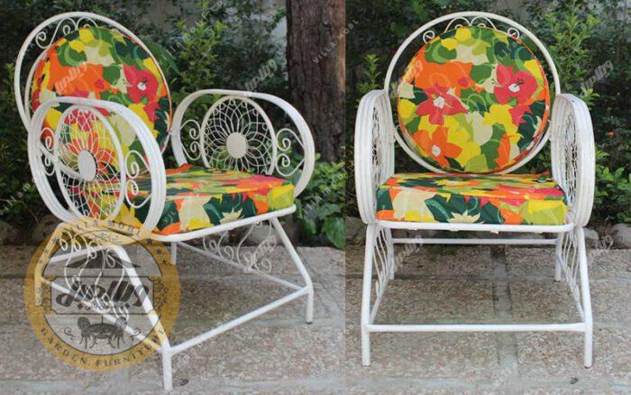 صندلی باغی فلزی خورشیدی