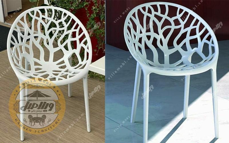 گالری صندلی پلیمری مدل شاخ و برگی
