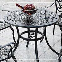 میز باغی آلومینیومی