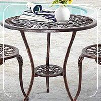 میز باغی فلزی