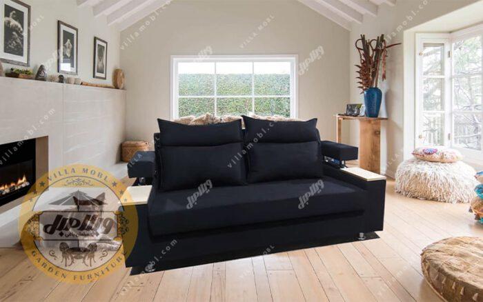 کاناپه تخت خواب شو دستهدار
