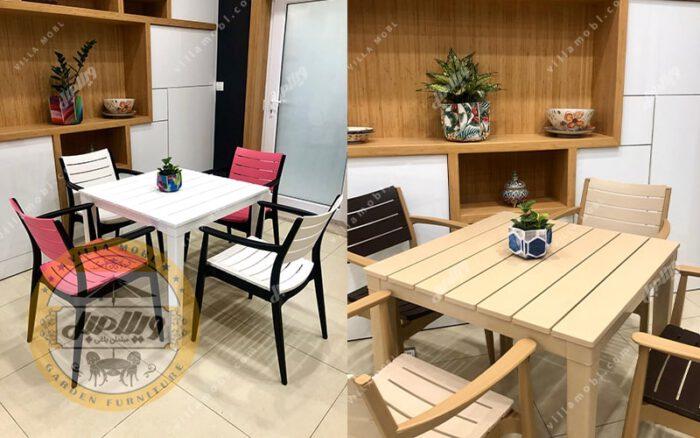 میز و صندلی مدل باران
