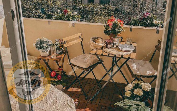 میز و صندلی چوبی فلزی تاشو پیچک