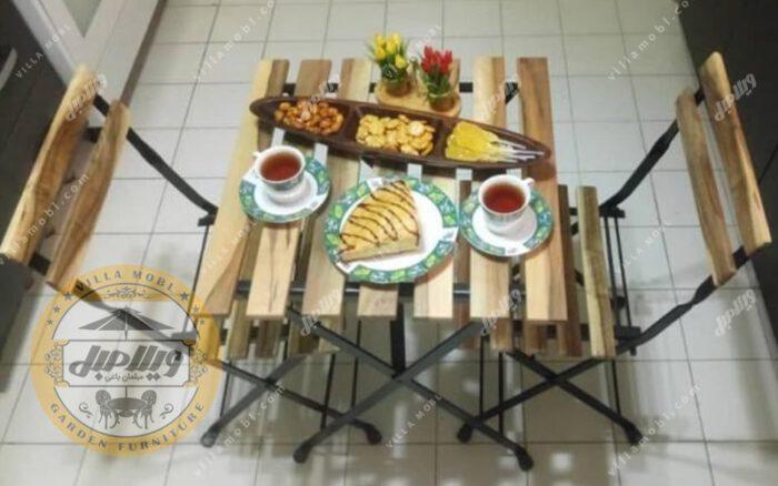 میز و صندلی چوبی پیچک