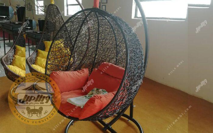 صندلی و مبل تابی مدل گرد حصیری
