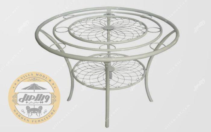 میز مبلمان باغی ویلایی کالسکه گلبرگ اقتصادی