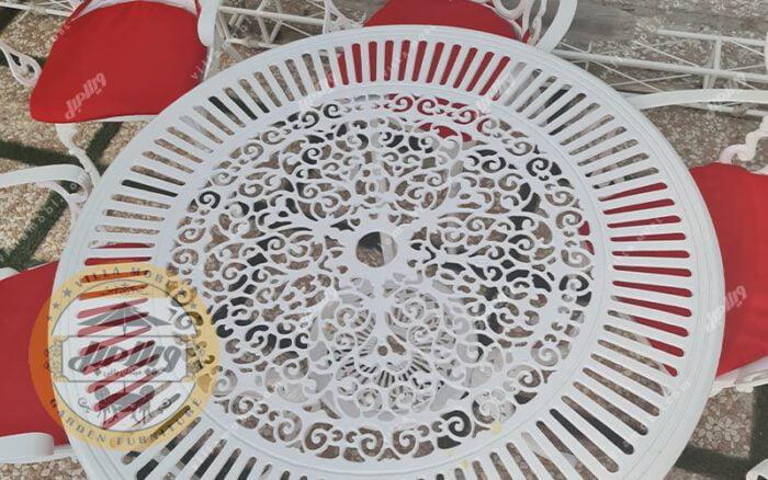 میز باغی آلومینیومی کبریتی قطر 110
